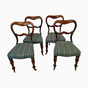 Victorian Mahogany Dining Chairs, Set of 4