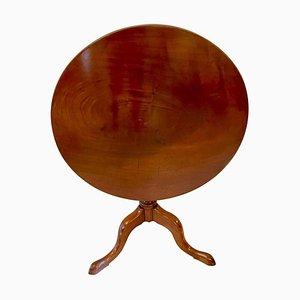 Runder George III Tisch aus Mahagoni mit kippbarer Tischplatte