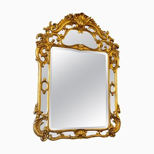 Großer verglaster Louis XV Spiegel