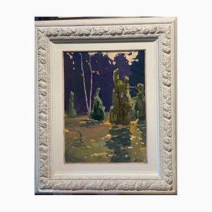 Vladimir Joukov, Herbstmärchen, Wald der Feen, 1953, Öl auf Leinwand, gerahmt