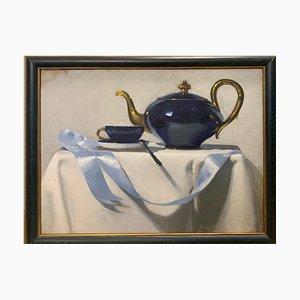 Luisa Albert, Tea Time, 2015, Oil on Cardboard, Framed