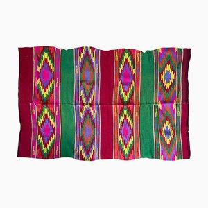 Handwoven Multicolored Wool Kilim, Romania