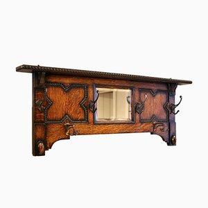 Mirrored Oak Coat Rack