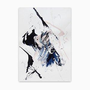 Lena Zak, Blue Velvet 3, 2020, Acryl, Gesso & Graphit Bleistift auf Aquarellpapier