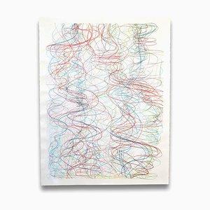 Margaret Neill, Riprap 2, 2014, Farbstift & Acryl auf Papier