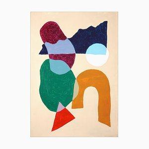 Ryan Rivadeneyra, Modern Native Shapes, 2021, Acryl auf Papier