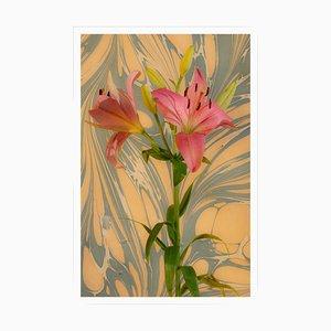 Kind of Cyan, Seventies Psychedelic Flower, 2021, Giclée Druck auf Fotopapier