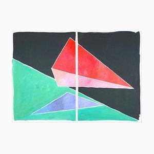 Natalia Roman, Space Age Dreiecke, 2021, Ölpastell, Öl, Acryl, Aquarell & Gouache