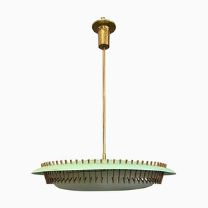 Green Perspex Lamp by Angelo Lelii for Arredoluce