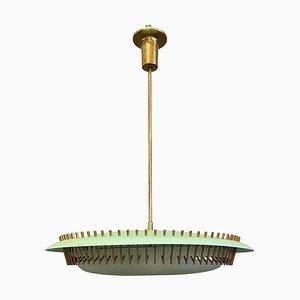 Grüne Perspex Lampe von Angelo Lelii für Arredoluce