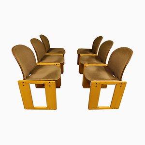 Walnuss Modell 121 Esszimmerstühle von Tobia Scarpa, 1970er, 6er Set