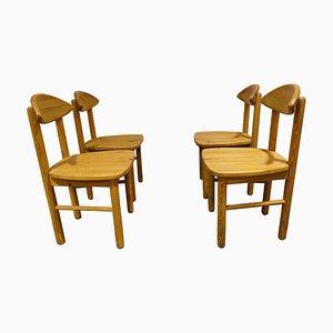 Pine Wood Dining Chairs by Ner Daumiller for Hirtshals Savvaerk, 1980s, Set of 4