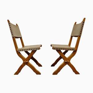 Brutalistische Stühle, 1960er, 2er Set