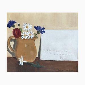 Jean Verdier, La lettre, 1952, Oil on Canvas, Framed