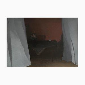 Véronique Rappaz, La chambre rouge, 1967, Öl auf Leinwand, Gerahmt