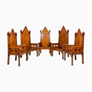 Freimaurer Thron Stühle, 5er Set