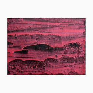 Li Chi-Guang, The Red Mountain Series No.22, 2018, Ink on Paper