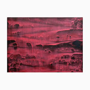 Li Chi-Guang, The Red Mountain Series No.17, 2018, Ink on Paper