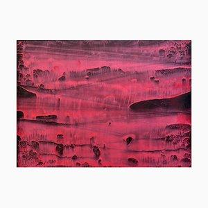 Li Chi-Guang, The Red Mountain Series Nr. 15, 2018, Tinte auf Papier