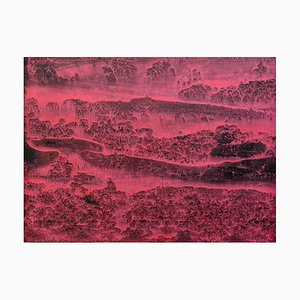 Li Chi-Guang, The Red Mountain Series No.12, 2018, Ink on Paper