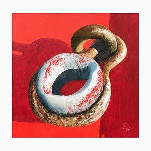 Patrick Chevailler, Single Deadeye, 2020, Oil on Canvas