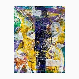 Monika Rossa, Abstraktion, 2021, Öl auf Leinwand