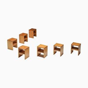 Französischer Minimalistischer Beistelltisch im Stil von Charlotte Perriand