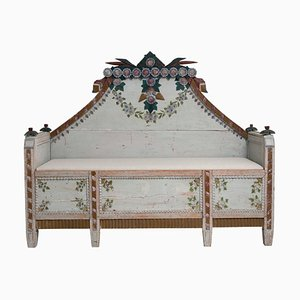 Late 18th Century Swedish Blue Pine Country Bench