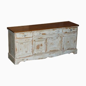 Vintage Hungarian Hand Painted Sideboard with Drawers