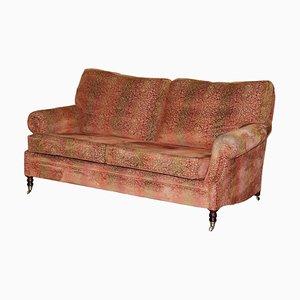 Scroll Arm 2-Sitzer Sofa mit Federkissen von George Smith