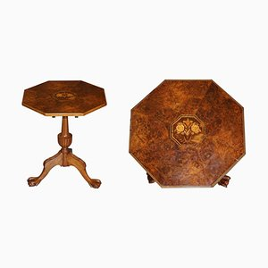 Early 19th Century Burr Walnut Table Top on Later Claw & Ball