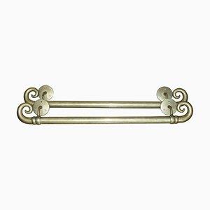 Large Tall Victorian Brass Door Handles, Set of 2