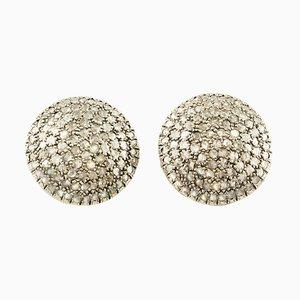 Ohrringe aus Diamant, Roségold & Silber, 2er Set