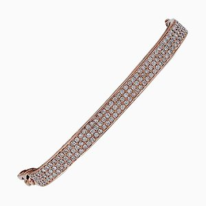 Diamonds, 18 Karat Rose Gold Modern Bracelet