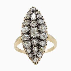 Roségold & Diamant Ring