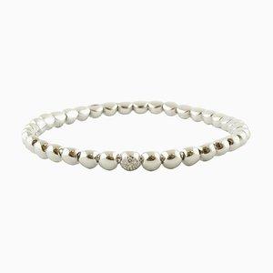 Diamanten und 18 Karat Weißgold Perlen Armband