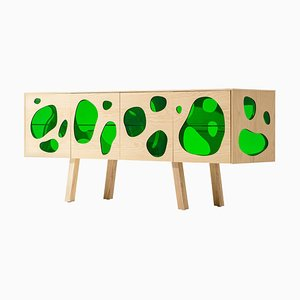 Aquario Prototype Sideboard in Glass and Wood from Campana Brothers