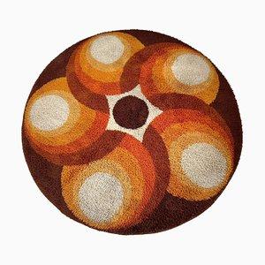 Mehrfarbiger Hochflorteppich im Panton-Stil, 1970er