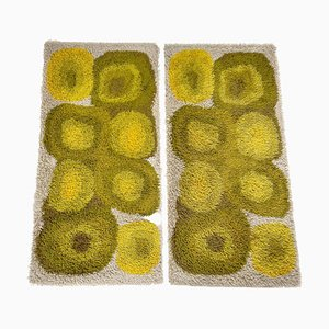 Multi-Color High Pile Rya Rug from Desso, The Netherlands, 1970s, Set of 2