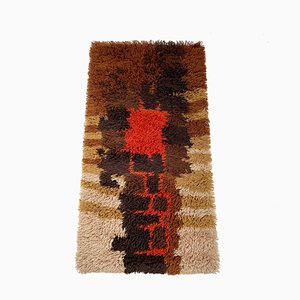 Multi-Color High Pile Rya Rug from Desso, The Netherlands, 1970s