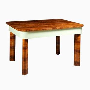 Ausziehbarer Art Deco Funktionalistischer Ausziehbarer Tisch aus Nussholz, 1930er