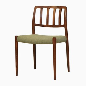 Rosewood & Wool Model 83 Dining Chairs by Niels Otto Møller for J. L. Møllers, Set of 8