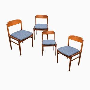 Esszimmerstühle, Dänemark, 1960er, 4er Set
