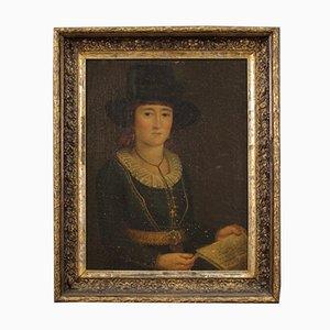 Portrait einer Frau, 19. Jh., Öl auf Leinwand, gerahmt