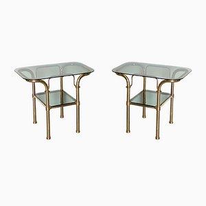Messing Tische, 1980er, 2er Set