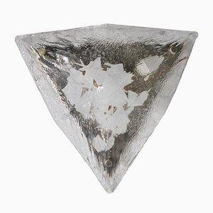 Dreieckige Glasapplikation von Gino Vistosi, 1960