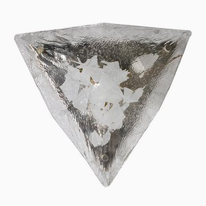 Glass Triangular Shape Applique by Gino Vistosi, 1960