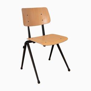 S17 Industrieller Buchenholz Stuhl von Galvanitas