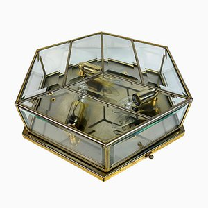 Mid-Century Brass Ceiling or Wall Lamp, Italy, 1970s