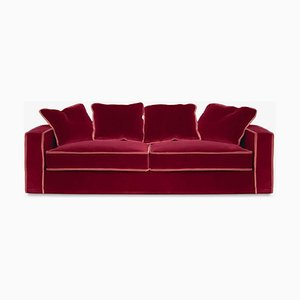 Rafaella Bio Sofa in Red & Rusty Velvet by D3CO